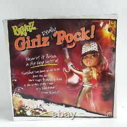 Bratz Girlz Really Rock SASHA Doll New HTF NRFB 2 Complete Outfits MGA NIB Girls