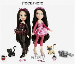Bratz World Twins Peyton Nevaeh Twins 2 Dolls Cat Pets Key Chains NEW in BOX