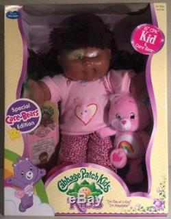 CABBAGE PATCH KIDS Special Care Bears Edition African American Baby Doll NEW
