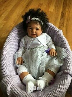 CUSTOM AA Biracial Ethnic'Cookie' BIG 9 mos Reborn Doll Baby Girl/Boy