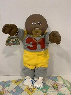 Cabbage Patch Kid AA Bald Boy Pacifier Face OK Complete Outfit