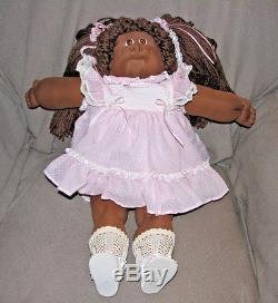 Cabbage Patch Kids African American Doll Soft Sculpture Black Fudge 1986 86