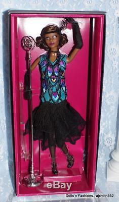 HEADBAND ~BARBIE DOLL MODEL MUSE CLAUDETTE GORDON BLACK SEQUIN FASHION ACCESSORY