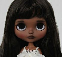 Custom Art OOAK TBL Factory Fake African American Black Hair AA Blythe Doll