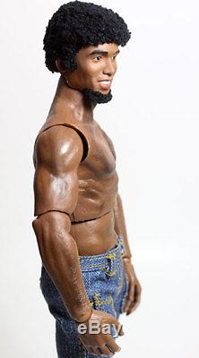 Custom OOAK 1/6 Muscular Barbie Ken Type Hybrid African American Doll/Figure-AA