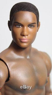 Custom OOAK Barbie Basic Texas Ken African American Doll-Anatomically Correct