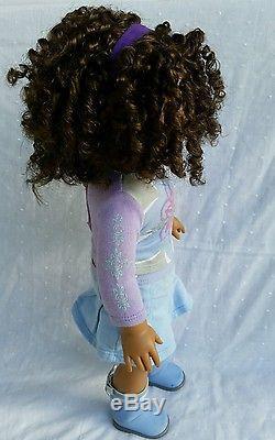 Cute American Girl, Truly Me African American Doll, Long Curly Hair, Brown Eyes