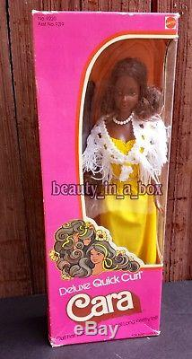 Deluxe Quick Curl Cara Barbie Doll 1975 AA African American 1976