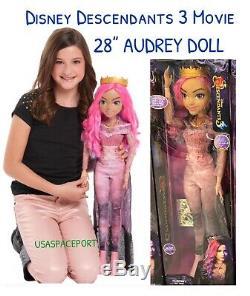Disney Descendants 3 Movie 28-in AUDREY DOLL My Size Villain Exclusive GIFT SET