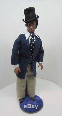 Dollhouse Miniatures, Doll, African-American Man with Top Hat, 1/12 Scale