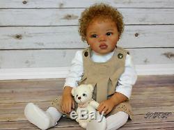 Ethnic Reborn AA Mixed Race Toddler Girl Jamina sculpted by Petra Seiffert