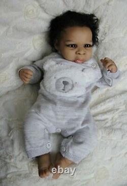 Ethnic reborn baby doll DeShawn By Jorja Pigott