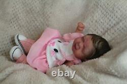 FULL BODY Miniature SILICONE BABY Girl Drink and wet