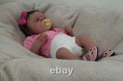 FULL BODY SILICONE BABY Girl Micro preemie DRINK AND WET