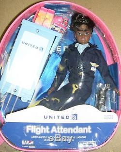 Flight Attendant Doll United Continental Merger Airlines 11 African American