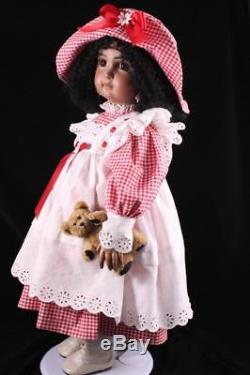 French Mulatto Jumeau Doll Black African American Compo Body Antique Repro By DM