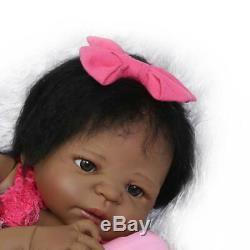 Full Body Silicone Reborn Toddler Doll 22in Anatomically Correct Black Baby Girl