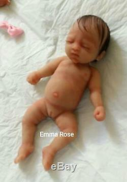 Full Silicone 7 Baby Girl (Emma Rose) Painted With Rooted Hair