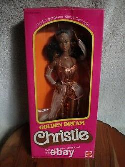 GOLDEN DREAM Black CHRISTIE Doll NIB #3249 Rare Barbie 1980