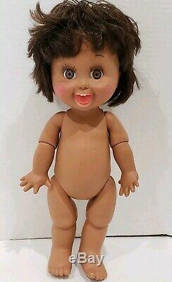 Galoob Baby Face Playful Penny 13 Doll 1990 Vintage #10 African American Black