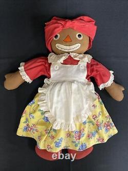 Georgene Johnny Gruelle's Own Beloved Belindy Rag Doll Raggedy Ann 1926 18