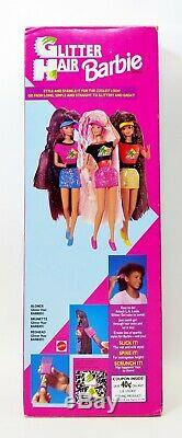Glitter Hair Barbie African American AA 1993 Mattel No. 11332 NRFB