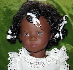 Gotz 25 African American Doll Fanouche