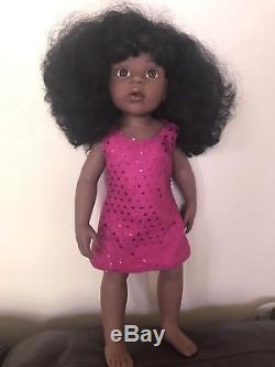 Gotz Doll with Black Hair, Brown Eyes, African American Doll