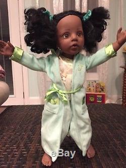 Gotz Fao Schwarz Nina African American Black Hannah 18 Doll