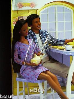 Grandma's Kitchen Happy Family Barbie Doll Grandpa African American NRFB OK AA
