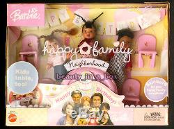 Grandpa Grandma Happy Family Barbie Doll African American AA Baby Friends BadBox