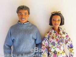 Grandpa Grandma Happy Family Barbie Ken Doll African American AA Eyeglasses Toy