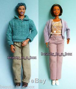 Grandpa & Grandma Happy Family Barbie Ken Doll Grandparents African American AA