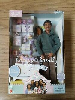 Grandpa Happy Family African American Barbie Doll Grandfather NRFB AA Black