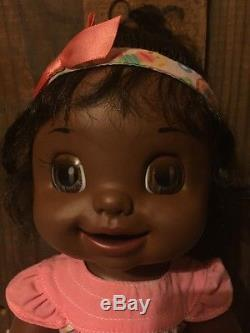 Hasbro 2007 African American Learns To Potty Baby Alive Doll Soft Face