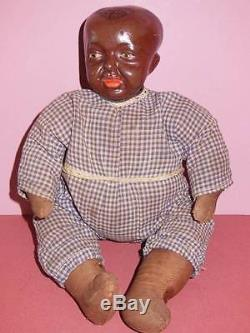 HORSMAN COMPOSITION EARLY AFRICAN AMERICAN BABY BUMPS DOLL