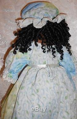 Handmade Collectible 24 African American Porcelain Doll by Paradise Galleries