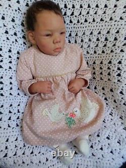Handsculpted OOAK POLYMER CLAY REBORN AA BIRACIAL Baby Doll LORNA MILLER SANDS