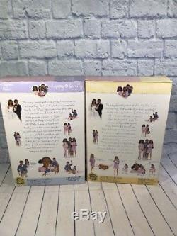Happy Family pregnant Midge & Baby Alan & Ryan Barbie African American New 2002