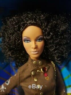 Hard Rock Cafe Barbie Doll African American Aa Gold Label Mattel K7946 Nrfb