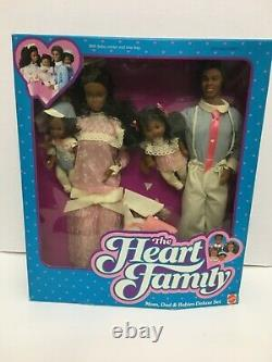 Heart Family Mom, Dad & Babies Deluxe Set 1984 NIB NRFB
