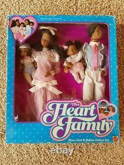 Heart Family Mom, Dad & Babies Deluxe Set #2052. NIB NRFB