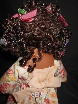 Heidi Plusczok African American Doll, 23 Tall, #91/1000 pieces, Porcelain & Clo