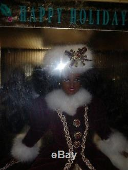 Holiday Celebration Barbie Holiday Ornaments Lot of 4. African American NIB