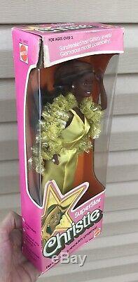 Htf Vintage 1976 Superstar Christie African American Barbie Doll Toy 9950 Mattel