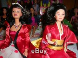 Huge 25 Barbie/ken Dollsvariety Of Culturesaa, Japan, Eskimo, Spanish, Russia+