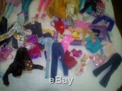 Huge Lot Barbie Dolls Ken Chelsea (25) Clothes Accessories Horse Princess 200+