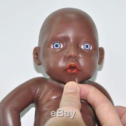 IVITA 11'' Lifelike Full Silicone Reborn Baby BOY African American Baby Dolls