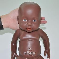 IVITA 16'' Cute Full Body Silicone African American Reborn Baby BOY Doll Newborn