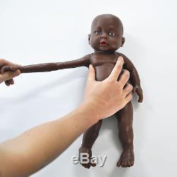 IVITA 16'' Full Body Silicone Life Like African American Reborn Baby BOY Dolls